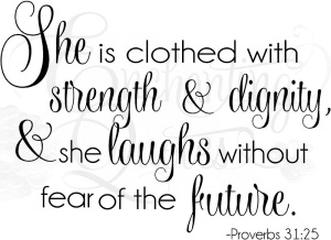 Clothed with strength