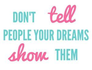 telling dreams