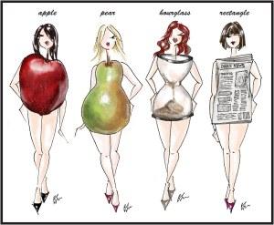 Body Shapes Sketch for blog