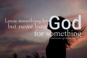 leaving God