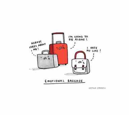 bags packed - emotional