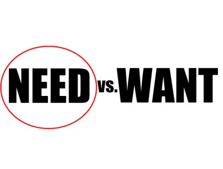 need-vs-want