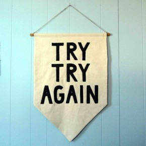 try try again banner