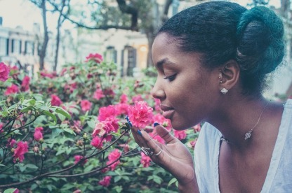 Smelling Flowers4